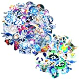 HOMIMP Stickers Pack Variety 140 Pcs - Nebula & Animals Style Vinyl Decals DIY - for Laptop Skateboard Car Luggage Motorcycle Bicycle Graffiti Computer Keyboard (Color: (Animal + Nebula)140 Pcs)