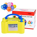 Electric Air Balloon Pump, AGPtEK Portable Dual Nozzle Inflator/Blower for Party Decoration - Yellow (Color: Yellow, Tamaño: 20 x 15 x 12(cm))