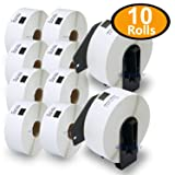 BETCKEY - 10 Rolls Compatible Brother DK-1201 Standard Address Labels 1-1/7
