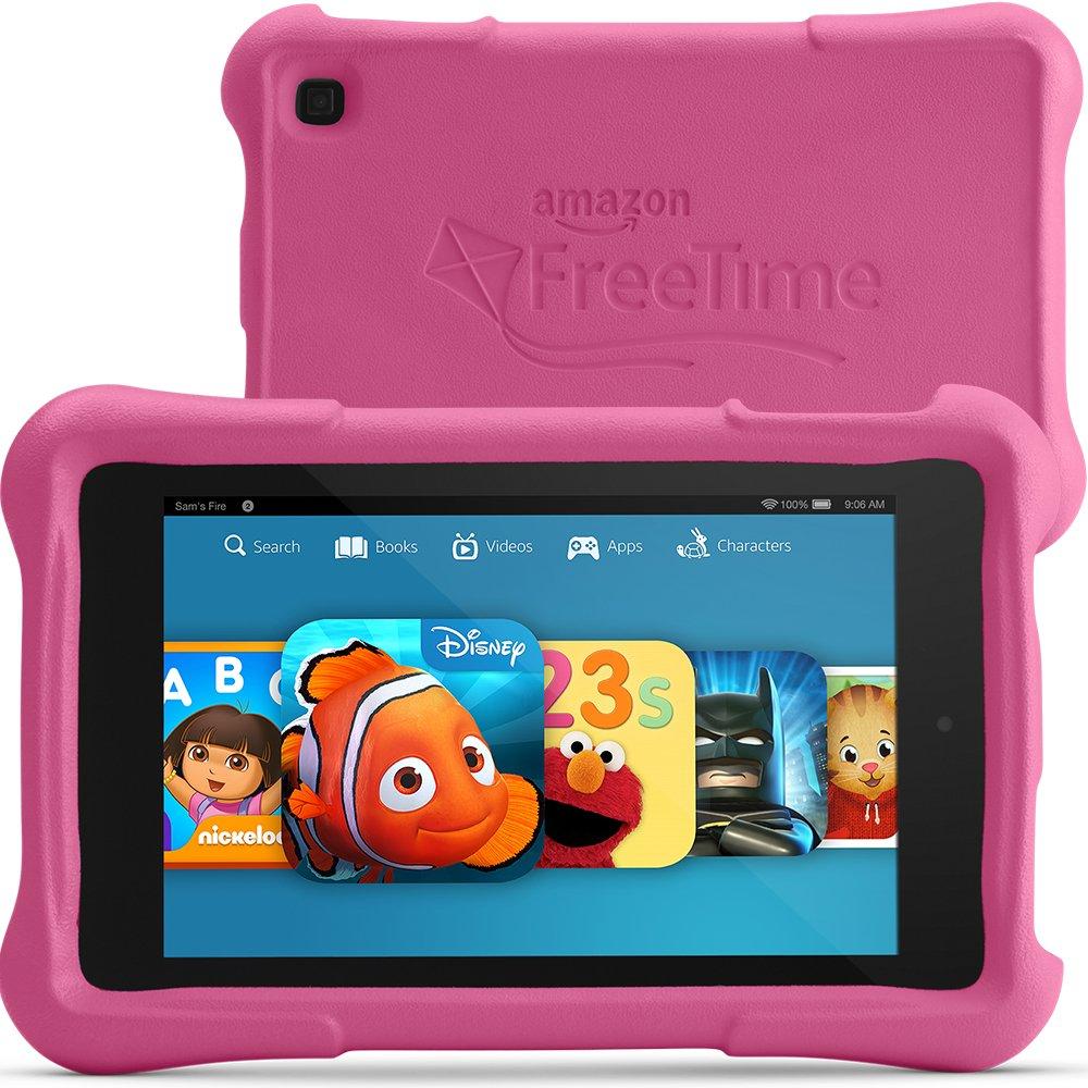 """Fire HD 7 Kids Edition, 7"""" HD Display, Wi-Fi, 8 GB, Pink Kid-Proof Case"""