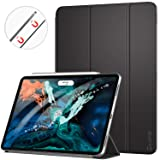 Ztotop Case for iPad Pro 12.9 Inch 2018, Strong Magnetic Ultra Slim Minimalist Smart Case, Trifold Stand Cover with Auto Sleep/Wake for New iPad Pro 12.9 Inch 2018 (3rd Gen), Black (Color: A01-Black)