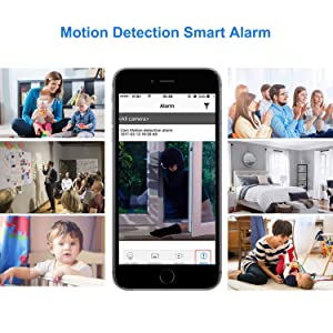 Hidden Spy Camera, Mini WiFi HD 1080P Wireless Security Nanny Cam for iPhone/Mac / Android/Window Remote View with Motion Detection (Color: Black)