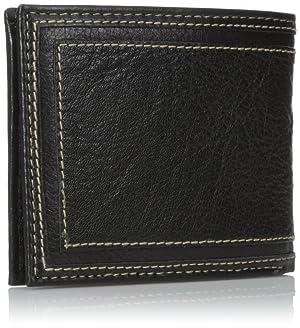 Billetera Tommy Hilfiger Marvin para hombre, de doble compartimiento, color negra, tamaño único.