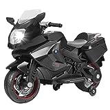 Uenjoy Kids Motorcycle Power Wheels Motorcycle 12V/ 2 Wheels/ Black