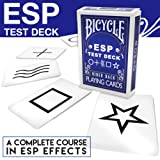 Magic Makers Bicycle ESP Test Deck with Rudy T Hunter, Includes Magic Instruction (Tamaño: Regular Poker)