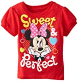Minnie Mouse Baby-Girls Infant Disney Sweet and Perfect Bow Tee
