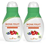 Monk Fruit Concentrated Liquid Sweetener (Optimized with Erythritol) 1.33 FL OZ (37 mL) – 2 Pack (Tamaño: 1.33 FL OZ (37 mL)-2 Pack)