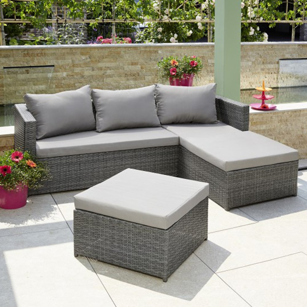 lounge set florenz polyrattan sitzgarnitur garten sitzgruppe gartenm bel g nstig kaufen. Black Bedroom Furniture Sets. Home Design Ideas