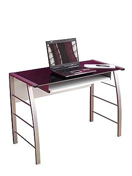 iovivo schreibtisch aus metall mit schwarzglasplatte dee73. Black Bedroom Furniture Sets. Home Design Ideas
