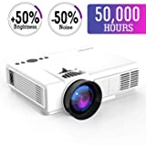 Mini Projector,2018 Upgraded LED Video Projector +70% Brighter,176