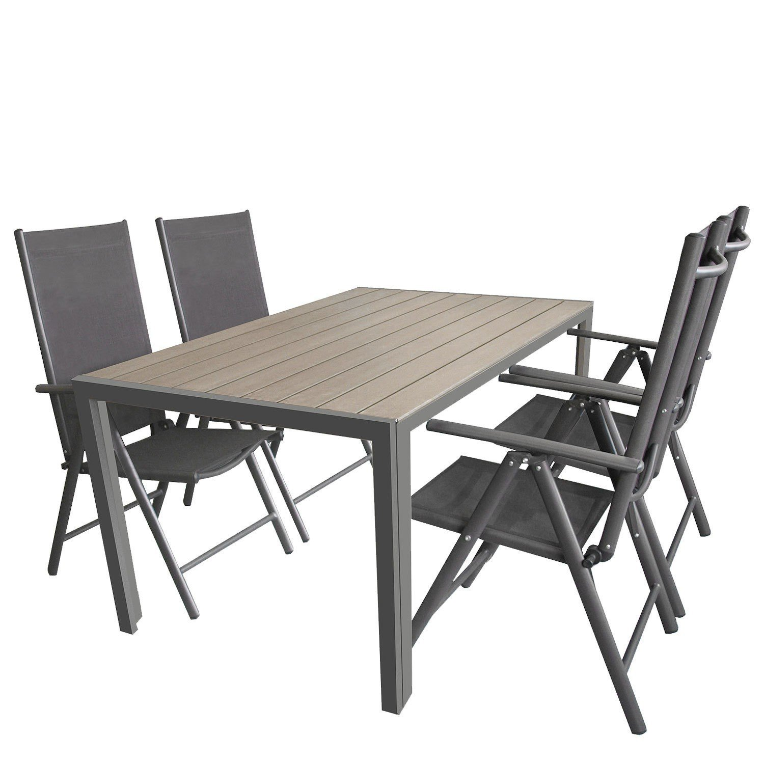 terrassenm bel gartenm bel set sitzgruppe sitzgarnitur aluminium polywood ausziehtisch 224. Black Bedroom Furniture Sets. Home Design Ideas