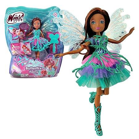 Winx Club - Butterflix Fairy - Layla Aisha Poupée 28cm avec magique Robe