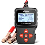 VIDENT iBT100 Car Battery Tester 12V Battery Analyzer for Flooded, AGM,Gel 100-1100 CCA Automotive Tester for Passenger Cars and Light Duty Trucks