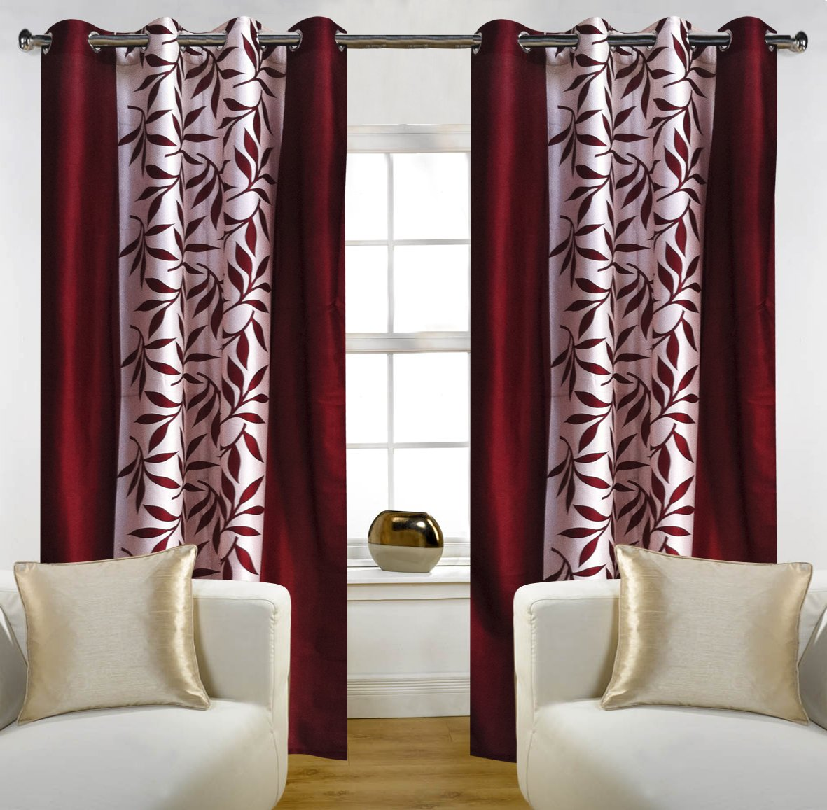 Buy Home Candy Eyelet Fancy 2 Piece Polyester Door Curtain Set