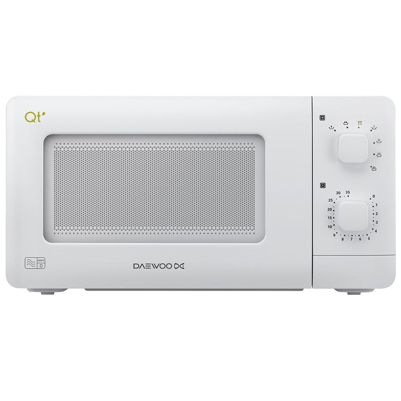 new daewoo compact microwave white mini oven 600 watt 14. Black Bedroom Furniture Sets. Home Design Ideas