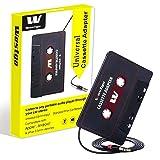 Gezan Audio Aux Cassette Adapter-Car Cassette Adapter-Audio Cassette Player-Retro and Vintage Cassette Adapter (Color: Black)