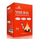 Nose Wax, Lifestance Nose Hair Removal Wax Kit Microwavable Home Use Hard Wax for Men and Women 60grams (Tamaño: 2.1 Ounces)