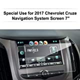 LFOTPP 2016-2018 Chevrolet Cruze 7 Inch MyLink Car Navigation Screen Protector Glass, [9H] Clear Tempered Glass Center Touch Screen Protector Against Scratch High Clarity