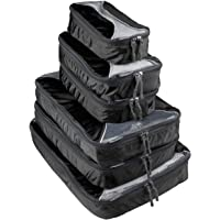 6-Piecs G4Free Packing Cubes Value Set for Travel (A-Black)