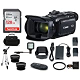 Canon VIXIA HF G21 Full HD Camcorder Bundle, Includes: 128GB SDXC Memory Card, LED Light, Spare Battery, 58mm Telephoto & Wide Angle Lenses, Camcorder Bag and more... (Tamaño: 128GB PRO Bundle)