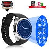 Smart Watch, Bluetooth Smartwatch with Camera Touchscreen,Smart Watches with SIM Card Slot, Sport Smart Wrist Watch Fitness Tracker Smart Watch Compatible Android iOS Smart Phones for Men Women Kids (Color: Silver smart watch android phones smartwatch, Tamaño: (9.65 x 1.57 x 0.49)