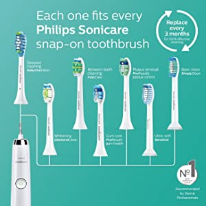 Philips Sonicare 2 Series Rechargeable Toothbrush Premium Bundle HX6253 for Clean and Massage (2 Quadpacer Handles + 3 Brush Heads (2 ProResults Plaque Control + 1 DiamondClean) + 2 Charger + 2 Case) (Color: HX6253)