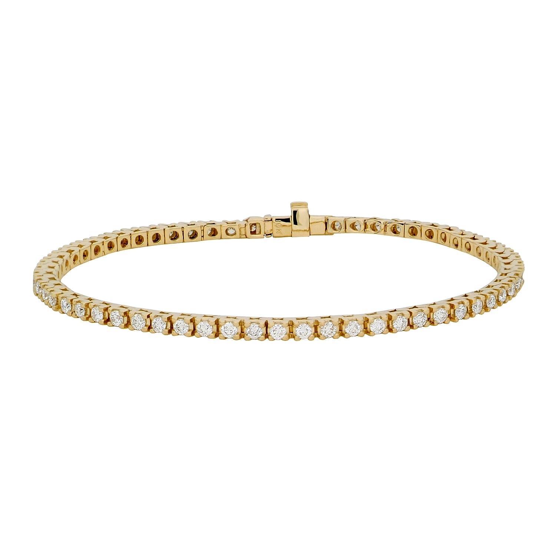 Miore Damen-Tennisarmband 9 Karat (375) Gelbgold 2,0ct UJ139BY bestellen