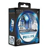 PHILIPS H4 ColorVision Blue Car Headlight Bulbs Set of 2 12342CVPBS2