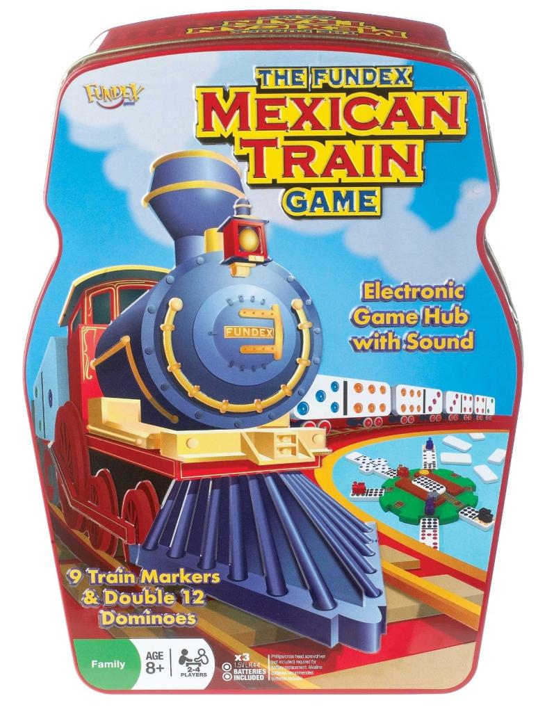 Amazon.com: Ideal Mexican Train Game with Double 12 Color Dot Dominoes