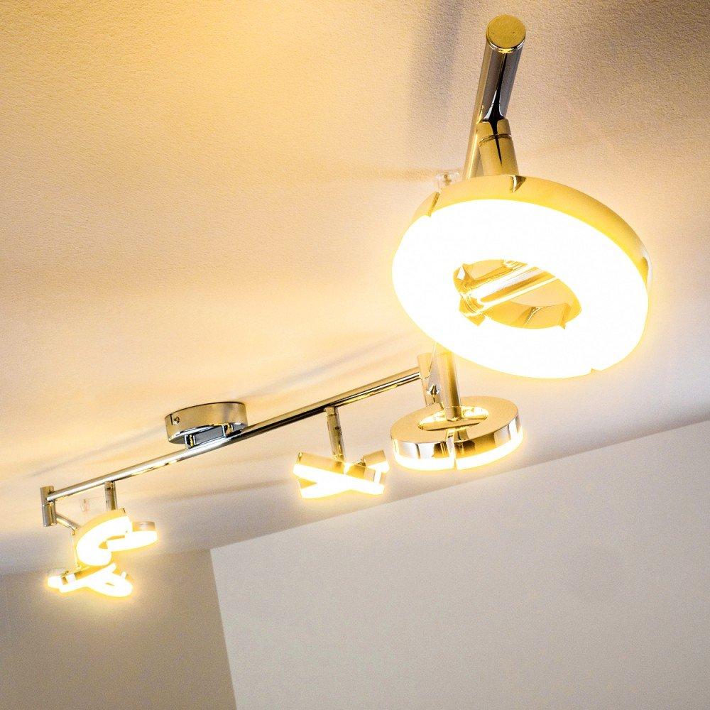 led deckenspot paris verstellbar 6 x 6 watt je 420 lumen 3000 kelvin lichtfarbe warmweiss. Black Bedroom Furniture Sets. Home Design Ideas