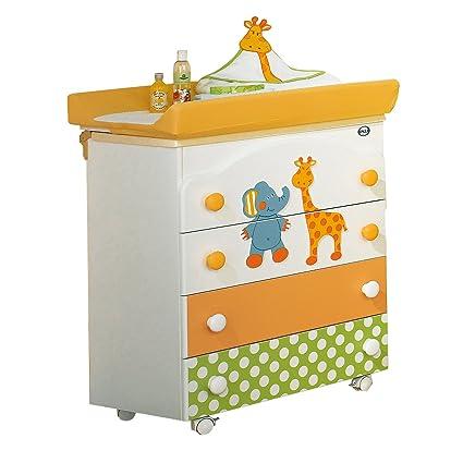Pali Gigi & Lele - Fasciatoio a 3 cassetti, con vasca per il bagnetto e materassino