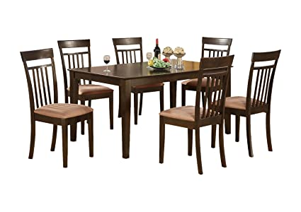 East West Furniture CAP5S-CAP-C 5-Piece Formal Dining Table Set