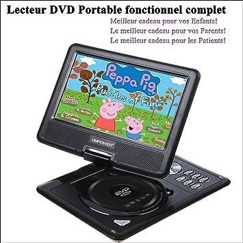 dbpower 9 5 lecteur dvd portable portable cran lcd 180 rotatif soutien soutien dvd vcd. Black Bedroom Furniture Sets. Home Design Ideas