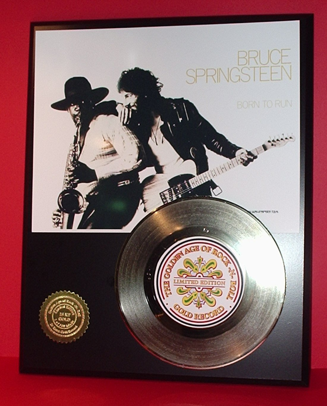 Bruce Springsteen Gold Record LTD Edition Display Actually Plays Born To Run  bruce springsteen live in dublin blu ray