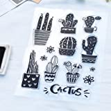 Clear Stamps for DIY Scrapbooking Paper Cards Making Decoration (various cactus plant) (Color: cactus plant)