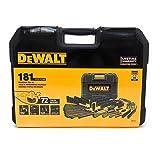 DEWALT DWMT81522 Mechanics Tool Set, Black Chrome Polish, 181 pieces (Color: Black)