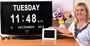 International Calendar HDMI Day Clock       Customer review and more information