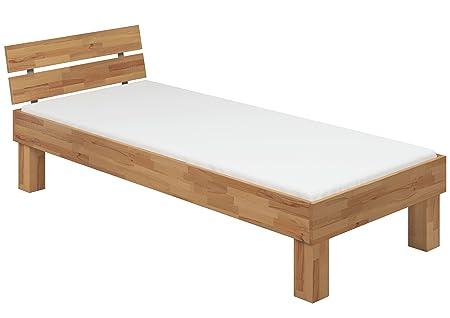 Letto 120x220 Faggio Eco ANCHE per ANZIANI con doghe di legno e materasso 60.81-12-220 FV M