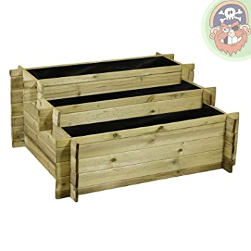 hochbeet aus holz mit stufen f r kr uterbeet im garten stufenbeet. Black Bedroom Furniture Sets. Home Design Ideas