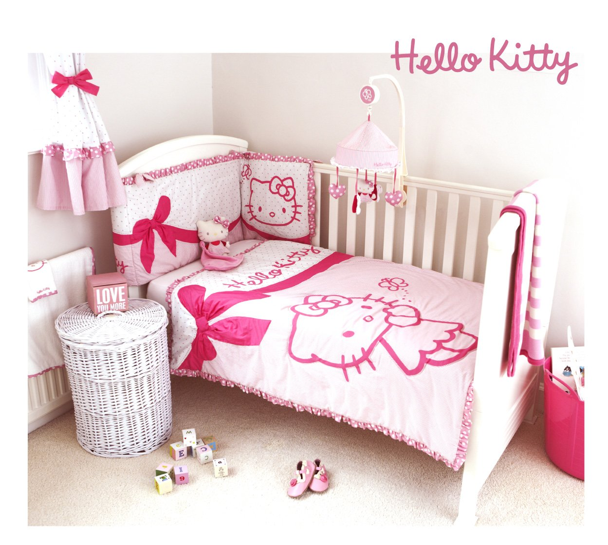 parure lit hello kitty. Black Bedroom Furniture Sets. Home Design Ideas