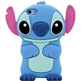 Blue Stitch Case for Apple iPod Touch 4 th 4th Generation 3D Cartoon Animal Cute Soft Silicone Rubber Character Cover,Kawaii Animated Funny Cool Skin Shell for Kids Guys Child Teens Girls(Touch 4th) (Color: iPod Touch 4th, Tamaño: iPod Touch 4)