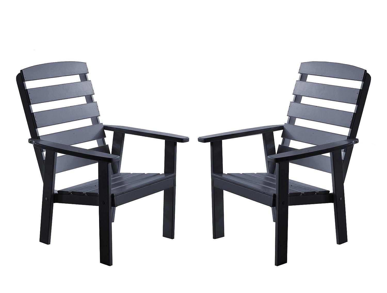 Ambientehome 90321 Gartensessel Gartenstuhl Loungesessel 2-er Set Massivholz Hanko Maxi, taupegrau günstig online kaufen