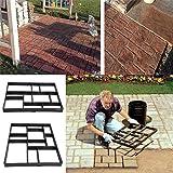 Estink Path Maker Mold,Driveway Pathmate Stone Mold Paving Concrete Stepping Stone Mould Pavement Paver,10 Grid (Color: Black, Tamaño: 10 Grids)