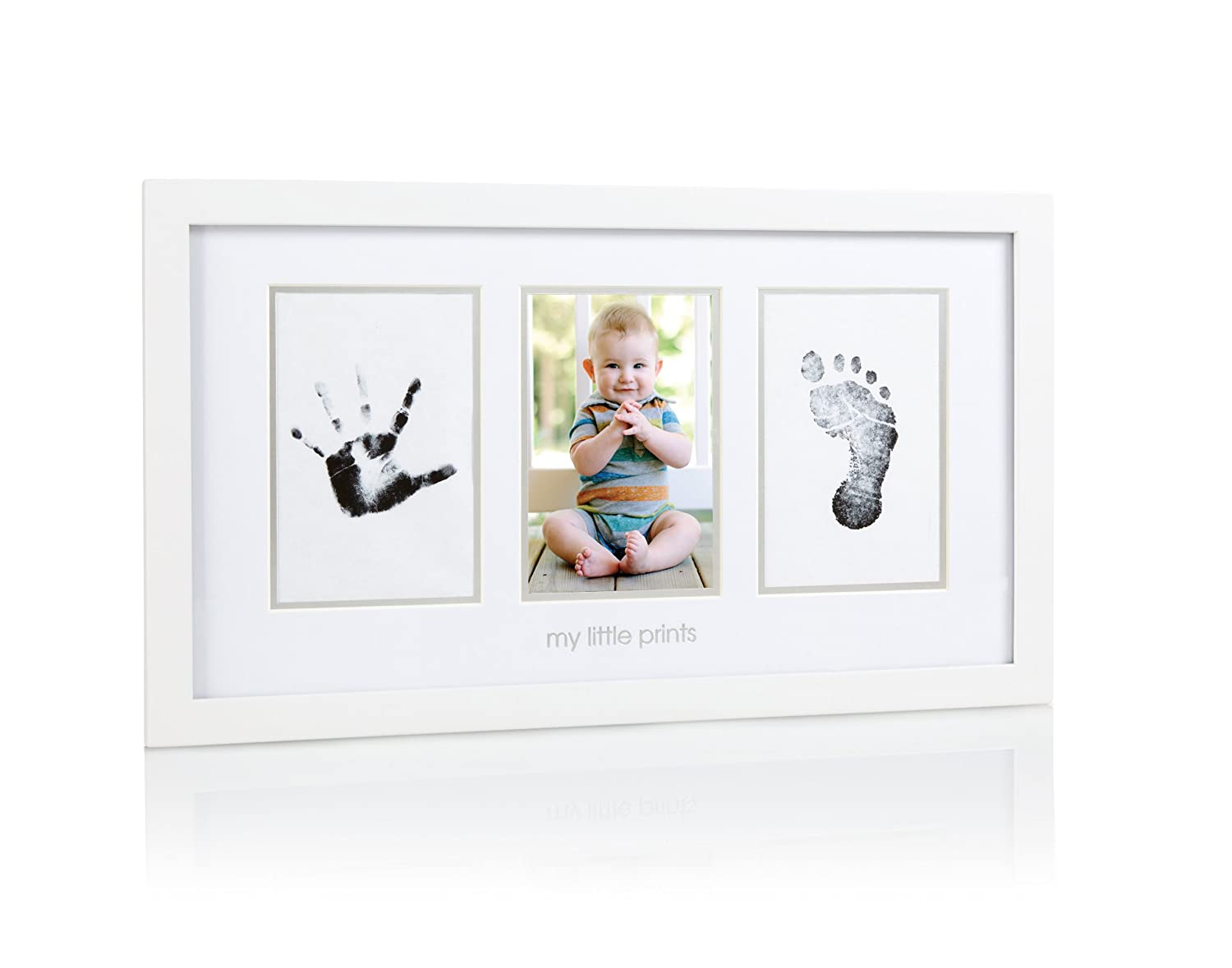 Pearhead Baby Prints Photo Frame with Clean-Touch Ink Pad