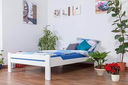 "Tagesbett / Gästebett ""Easy Sleep"" K4, 140 x 200 cm Buche Vollholz massiv weiß lackiert"