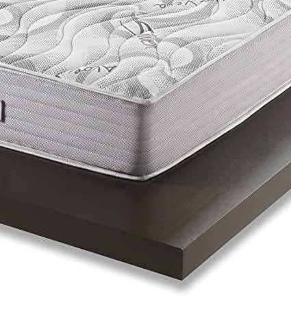 Stones 4 You Silver Materasso, Foam/Memory, Bianco, 160 x 195 x 25 cm