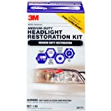 3M 1 Pack Medium Duty Headlight Restoration Kit with Quick Clear Coat, 39174