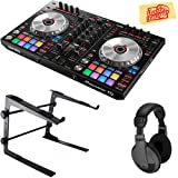 Pioneer DDJ-SR2 Portable 2-Channel Controller for Serato DJ Bundle with Stand, Headphones, and Austin Bazaar Polishing Cloth (Color: Bundle w/ Stand, Tamaño: DDJ-SR2)