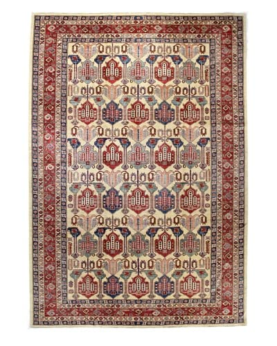 Bashian Fine Kazak Rug, Ivory, 8′ 9″ x 12′ 5″ As You See