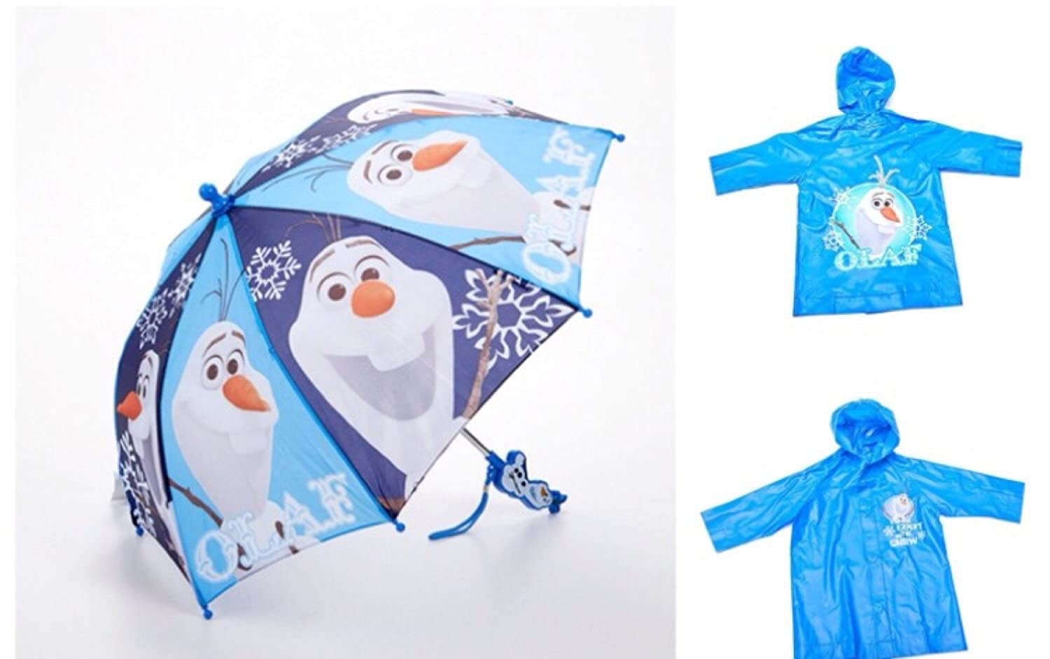 Disney Frozen Olaf Childrens 2 Piece Umbrella Rain Poncho Set - Large 6/7 large double layers folding umbrella windproof rain gear